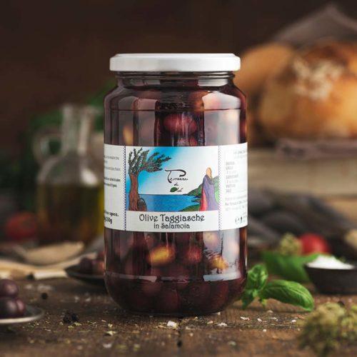 Olive taggiasche con nocciolo in salamoia 350 grammi